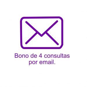Bono de 4 consultas por email.