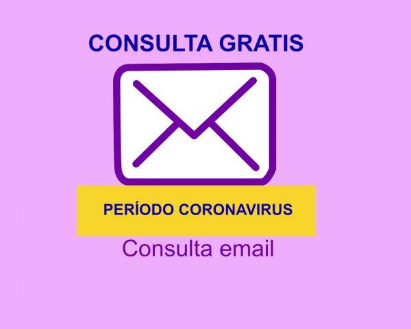 Consulta email gratis periodo coronavirus.