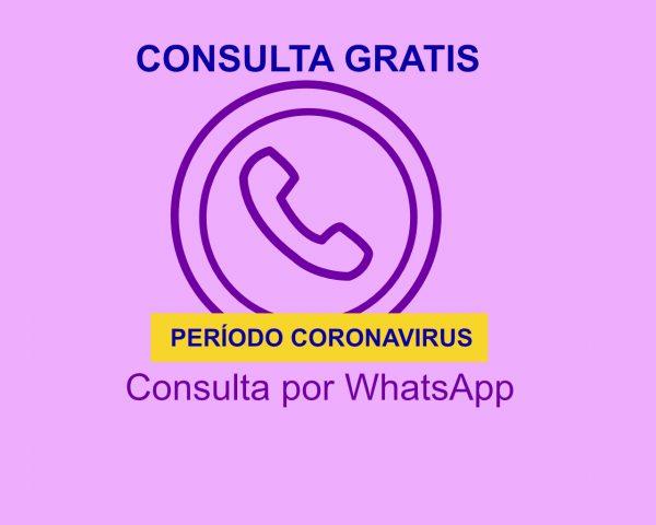 Consulta por Chat WhatsApp gratis período coronavirus