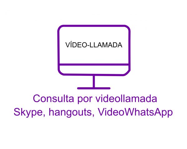 Consulta por videollamada Skype, hangouts, videowhatsapp