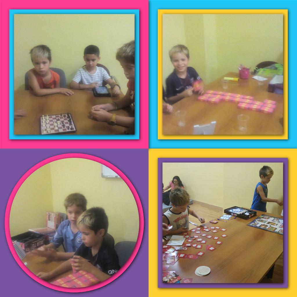 Jugando a juegos de mesa 2ª parte en Espai Estiu en Psico-Montornès.