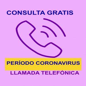 Consulta por llamada telefonica gratis coronavirus